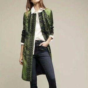 Plenty by Tracy Reese Green Coat Veronika Pommed